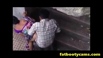 covert webcam of indian duo nailing outside - fatbootycamscom