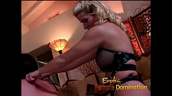 messy conversing blond domme pegs her submissive victim.