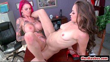 Big Tit Lesbian Teens Going Hardcore 09