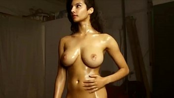 British Indian Model Shanaya Naked Playing With Her Oily Boobs