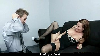 Horny Big-tit MILF fucks employee&#039_s big-dick in the office 21