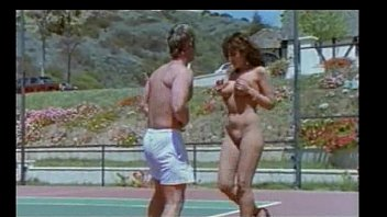 stud and dame in tennis court