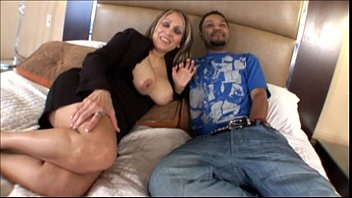Mature Latina Mom banging younger black cock in Interracial Amateur Video