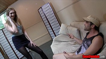 Laci Star FEMDOM CBT PANTYHOSE CEI JOI LEGGINGS FOOT FETISH