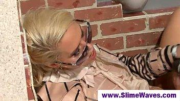 jism sopping lesbos at gloryhole