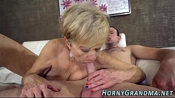 heeled grandmother fellates stiffy
