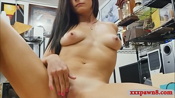 Hot babe pawns her pussy and fucked hard