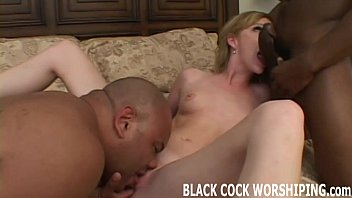 these two ample ebony dinky are going to.