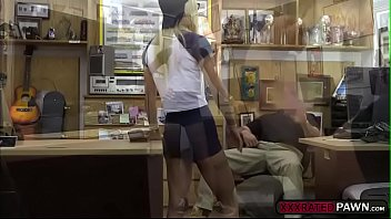 splendid silver-blonde ambles to shawns pawnshop and gets smashes