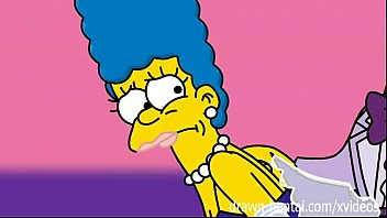 simpsons  - marge and artie.