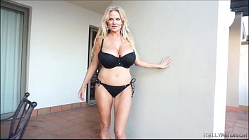 large tittied cougar kelly madison jiggles her juggs.