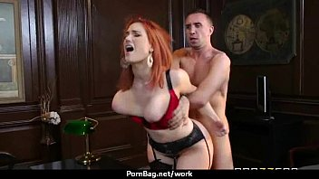 subordinated office ample-boobed assistant eventually plows her manager 28