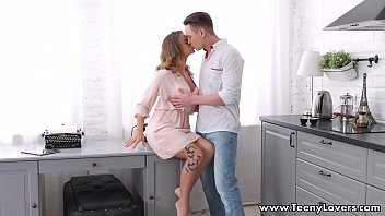 Teeny Lovers - Guy makes a teen Jenny Manson cum first