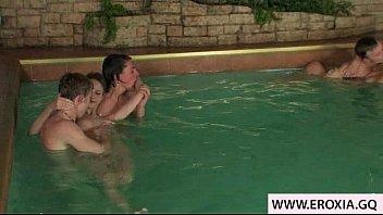 Nice teen orgy in the pool - FAPPLER.COM