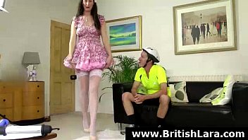 mature brit female in stocking getting.