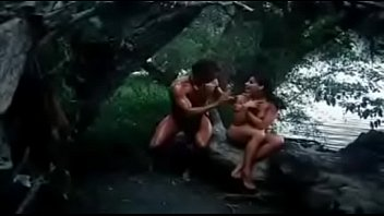 village couple sucking and fucking in forest