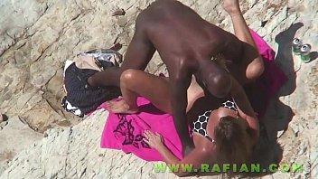 inexperienced beach interracial