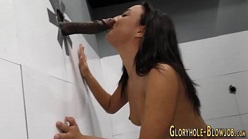 hotty inhales at gloryhole