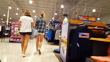 candid teenager light-haired shopping with mother warm cock-wringing cutoffs