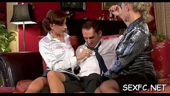 slightly bare trouser snake lovin' broads getting down.