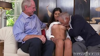 elder guy pulverize youthfull doll in shower going.