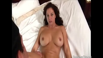 pummeling a gigantic funbag dark haired cougar in.
