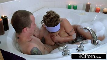 Horny Guy Joins His Friend'_s Busty Latina Mom Eva Notty in a Bath