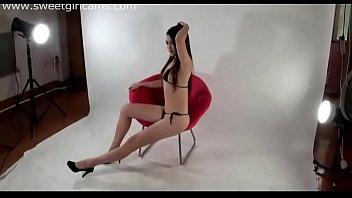 china model on web cam