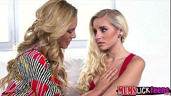 Milf Cherie Deville gives a teen an erotic lesbian fuck