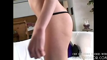 Young Blonde Teasing And Cumshot